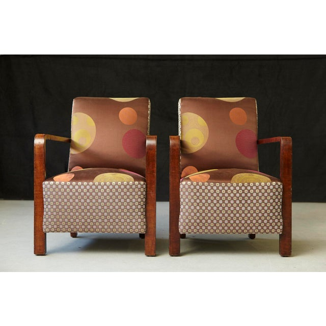 Art Deco Pair of 1920s Art Deco Lounge Chairs from Buenos Aires For Sale - Image 3 of 11