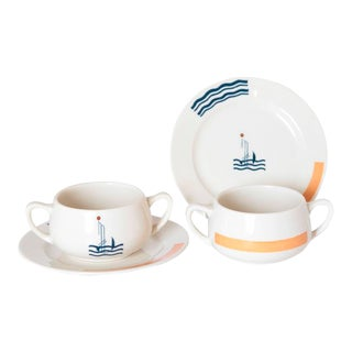 Art Deco S.S. Leviathan Two-Piece Matched Pairs Serveware, Eugene and Lee Schoen For Sale