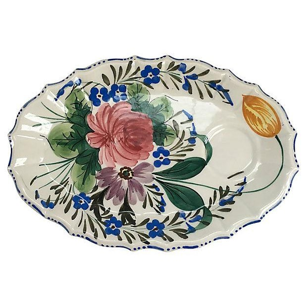Italian Hand Painted Oval Plates - Set of 6 - Image 5 of 7
