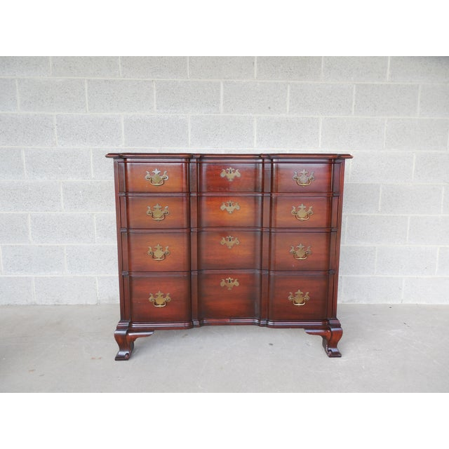 Features Quality Solid Mahogany Constructions, Chippendale Style, 4 Dovetailed Drawers, Brass Hardware Approx 50 years old...