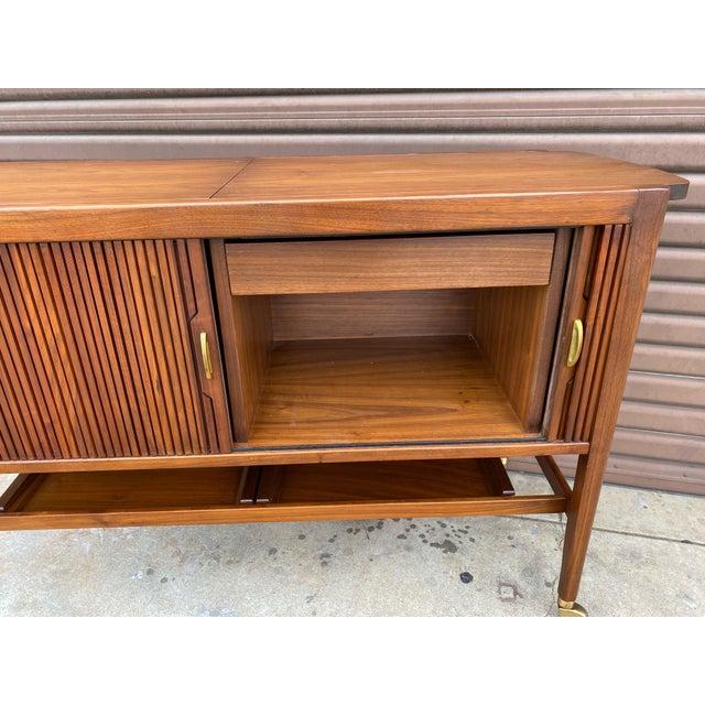 Kipp Stewart for Drexel Declaration Mid Century Modern Serving Cart For Sale In Los Angeles - Image 6 of 12