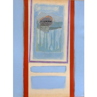 1960s Modern Painting Silver Cloud by Robert S. Moskowitz For Sale