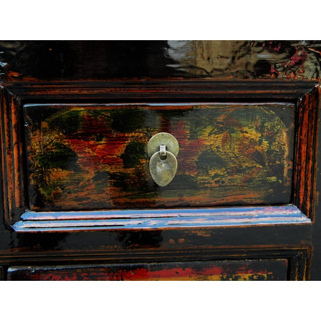 Lacquer 1910s Asian Antique Green Qinghai Sideboard For Sale - Image 7 of 13