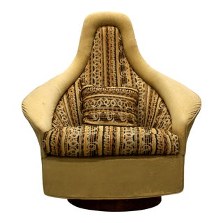 Vintage Adrian Pearsall Mid-Century Modern Craft Associates Swivel Chair For Sale