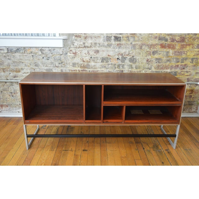 Metal Bang & Olufsen Rosewood Console For Sale - Image 7 of 8