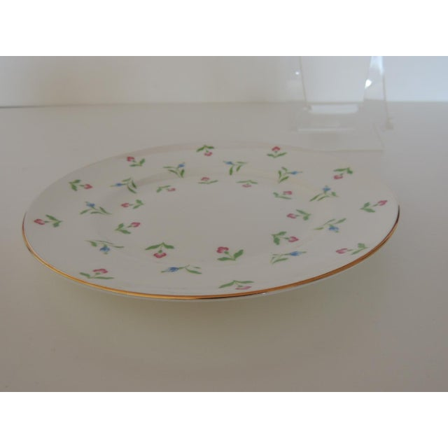 Royal Victoria English White and Pink Bone China Dessert Plate For Sale - Image 4 of 6