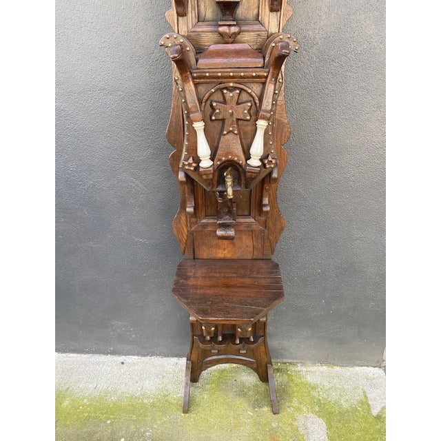 19th C. European Folk Art Sculpture /Dispenser For Sale - Image 11 of 13