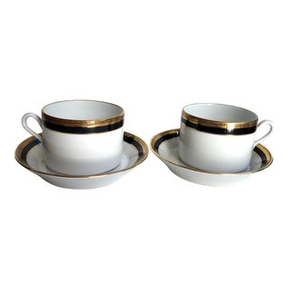 Pair of Cups & Saucers by Richard Ginori For Sale