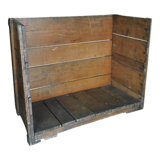 Vintage Wooden Factory Cart Bench