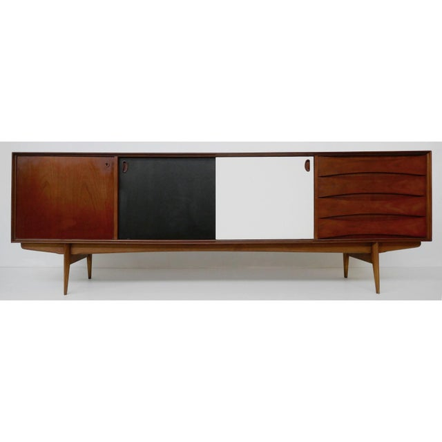 """Wood """"Paola"""" Sideboard by Oswald Vermaercke for V-Form - 1950s For Sale - Image 7 of 7"""