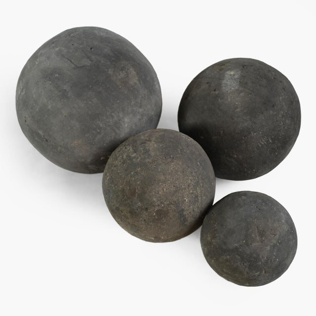 Contemporary Black Stone Garden Sphere X-Large For Sale - Image 3 of 5