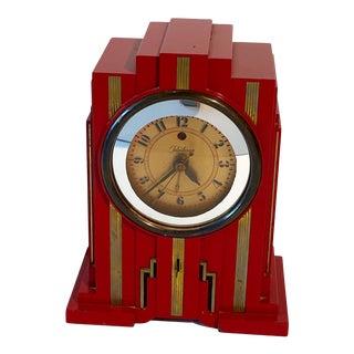 "1920s Telechron Electrolarm 700 Ge ""Skyscraper"" Art Deco Alarm Clock For Sale"