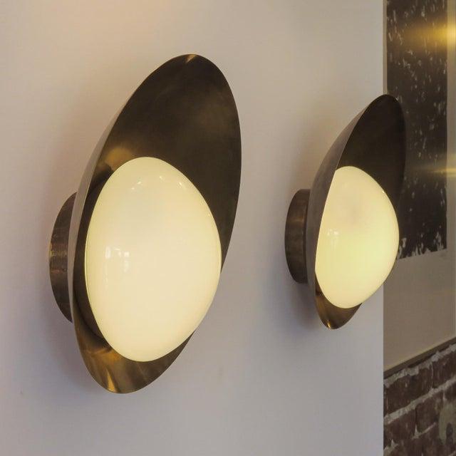 "Custom ""Concha"" Wall Lights For Sale - Image 10 of 11"