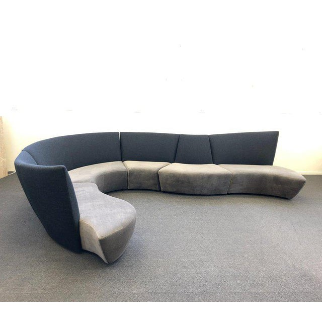 Modern Five Piece Sectional Sofa by Vladimir Kagan for Preview For Sale - Image 3 of 13