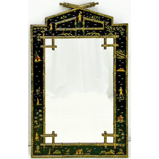Faux Bamboo Chinoiserie Mirror For Sale - Image 4 of 4