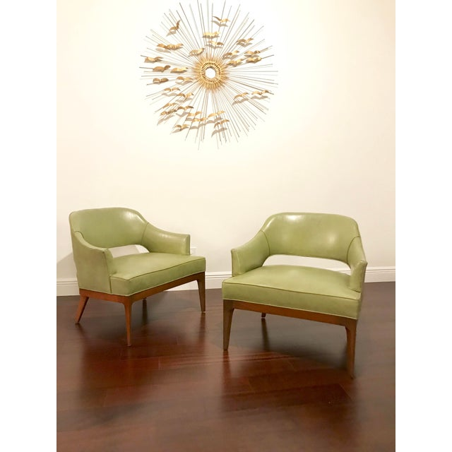 Harvey Probber Mid Century Modern Low Club Chairs or Lounge Chairs - a Pair For Sale In Miami - Image 6 of 9