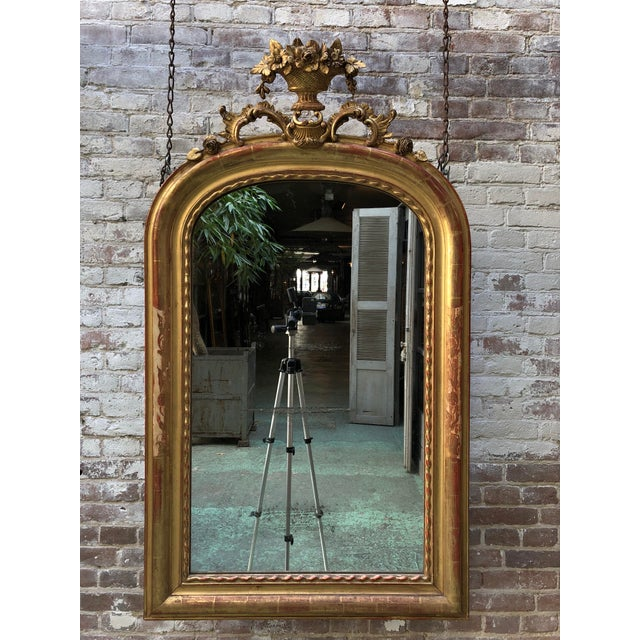 Gold Leaf 19th Century Mirror, France For Sale - Image 7 of 7