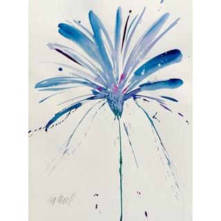 "Botanical Blue Violet, 22x30"" Original Watercolor. For Sale"
