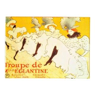 Henri De Toulouse-Lautrec La Troupe De Mademoiselle Églantine Lacquered Box For Sale