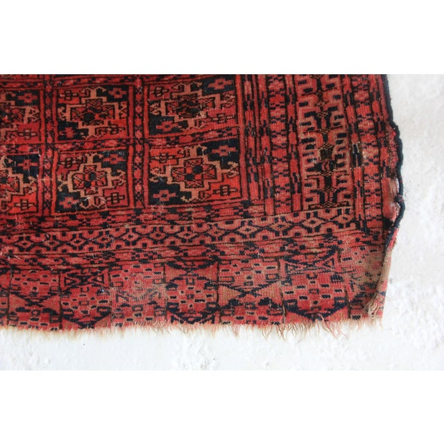 Vintage Red Square Rug - 3′ × 3′1″ - Image 2 of 6