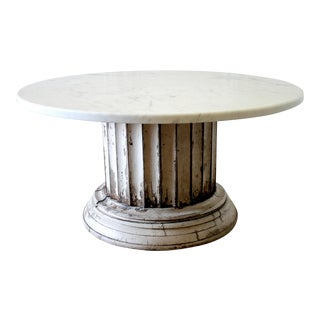 19th Century Mediterranean Column Pedestal Dining Table For Sale