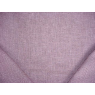Traditional Ralph Lauren Laundered Linen Heather Purple Upholstery Fabric - 7-1/4y For Sale