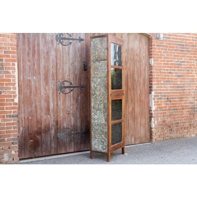 British Colonial Tall 19th Century British Colonial Glass Cabinet For Sale - Image 3 of 13