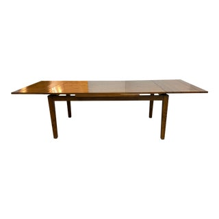 Mackenzie Dow Wood Self Storing Extension Dining Table For Sale