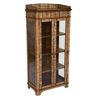 Reclaimed Wood Curio Cabinet For Sale