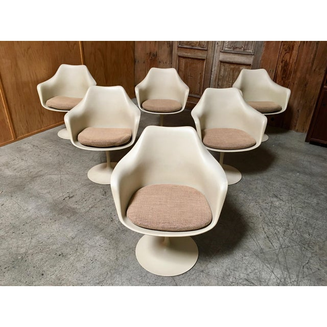 Vintage Mid Century Eero Saarinen for Knoll Dining Chairs- Set of 6 For Sale - Image 12 of 12