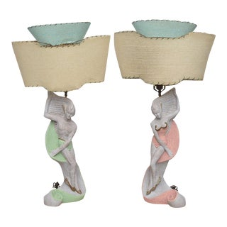 Pair of Continental Deco Lamps by Emil Bertolozzi, Italy, 1950s For Sale