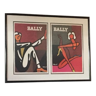 Villemot Original Femme & Homme for Bally Litho Print