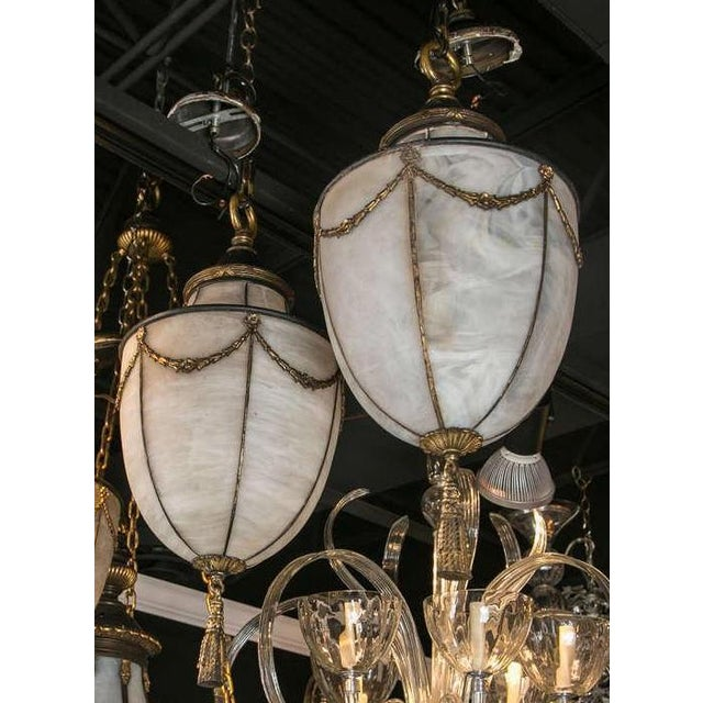 1900s Caldwell Leaded Glass Lanterns - a Pair For Sale - Image 9 of 9