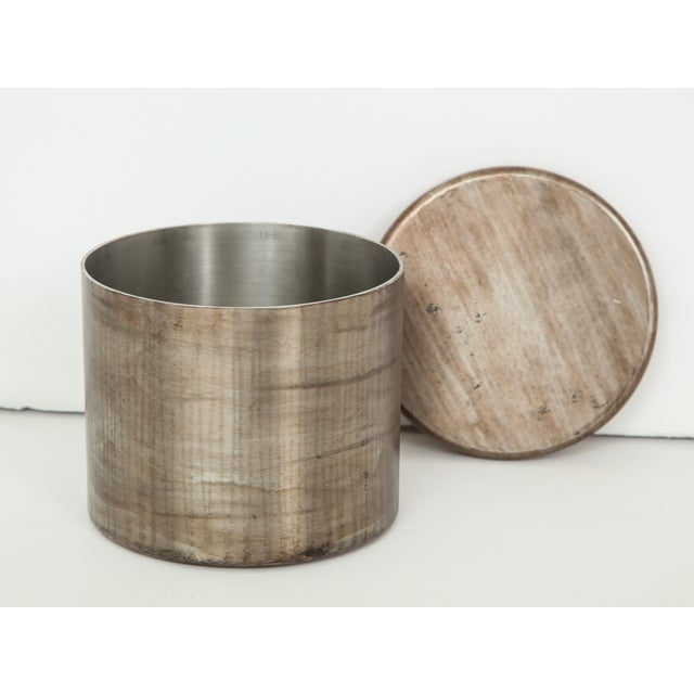Tloupas Philolaos Hammered Steel Canister by Philolaos For Sale - Image 4 of 8