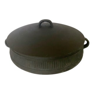 Mid-Century Jens H. Quistgaard for Dansk Matte Flamestone Pottery Domed Casserole Dish For Sale