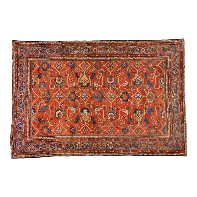 "Vintage Persian Mahal Rug - 7' x 10'4"" For Sale"