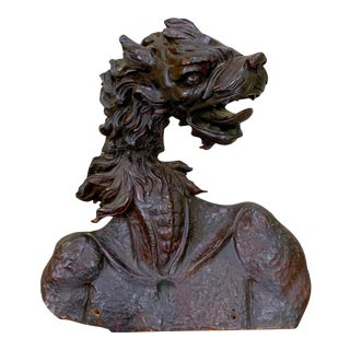 19th Century Black Forrest Fantasy Carving of a Dragon or Zmei For Sale
