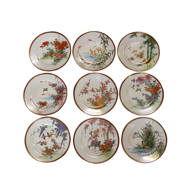Vintage Fine China Porcelain Dining Plates - Set of 9 - Image 1 of 6