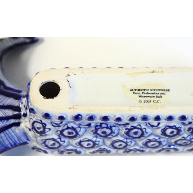 White & Blue Pineapple Catchall - Image 6 of 8