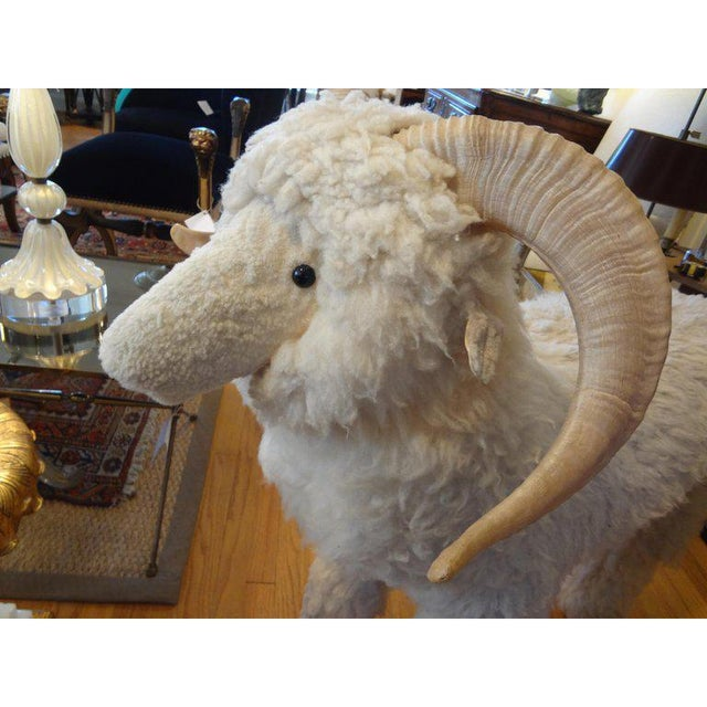 Claude Lalanne 1960's Claude Lalanne Inspired Figural Shearling Sheep Sculpture For Sale - Image 4 of 12