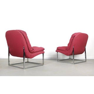 1970s Hollywood Regency Scoop Lounge Chairs - a Pair Preview