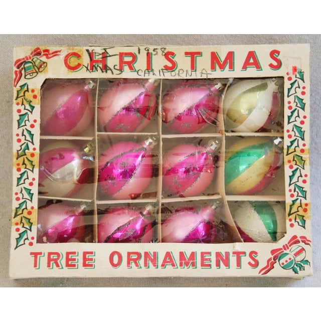 1950s Christmas Ornaments With Box - Set of 12 - Image 4 of 7