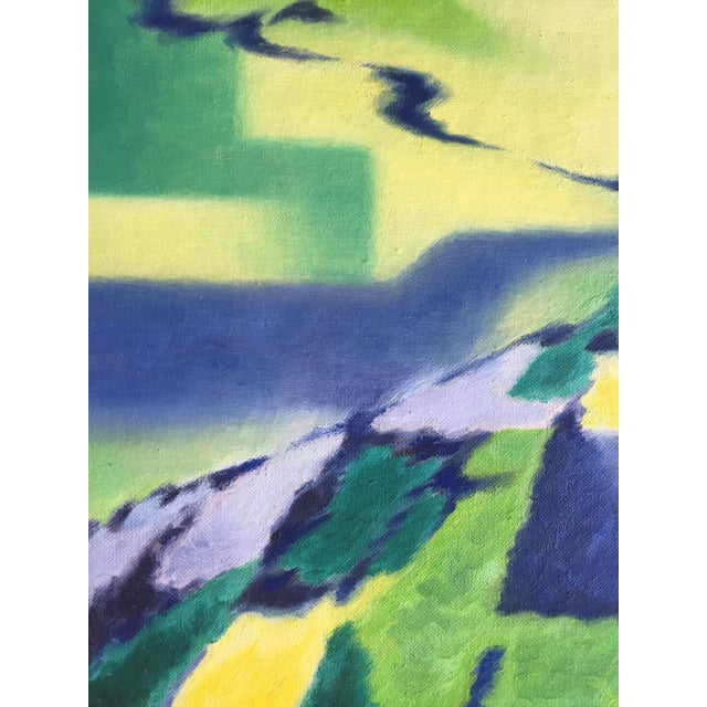 Eleanor Perry 1969 Abstract Landscape Painting - Image 4 of 6