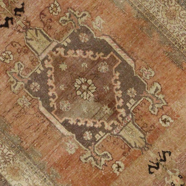 Contemporary Vintage Turkish Sivas Rug with Modern Industrial Style For Sale - Image 3 of 9