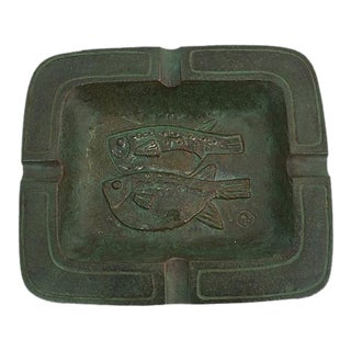 Verdigris Bronze Ashtray