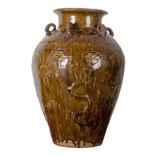 17th Century Vintage Martaban Storage Jar For Sale