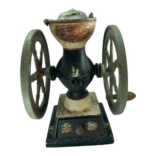 Antique Landers Frary & Clark Cast Iron Coffee Grinder #20 For Sale