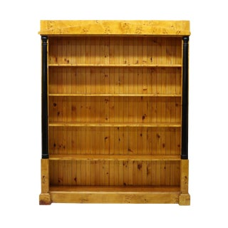 Danish Biedermeier Style Birdseye Birch Bookcase For Sale