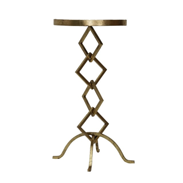 Flynn Contemporary Granite Top Side Table For Sale - Image 4 of 6