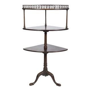 George III Style Mahogany 3-Tiered Corner Stand